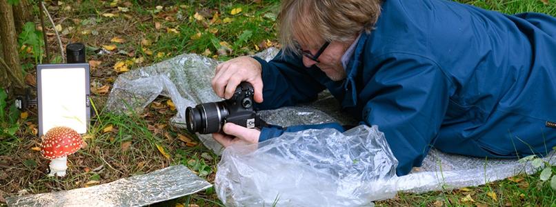 Cursisten Digitale fotografie op ontdekkingstocht in de herfst