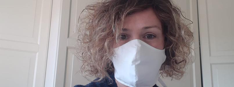 Cursisten en leerkrachten Kleding maken massaal mondmaskers